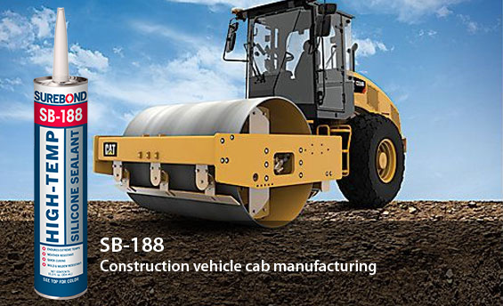 SB-188 High-Temp Silicone Sealant: Construction vehicle cab manufacturing